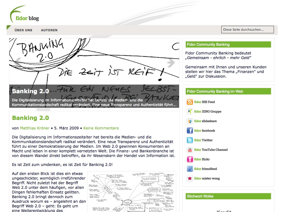 Fidor Blog Screenshot