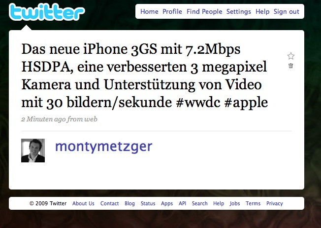 twitter iphone 3gs