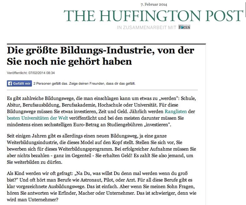 HuffPost-Artikel