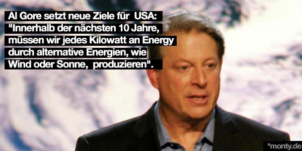 Al Gore setzt Clean Energy Ziele für USA